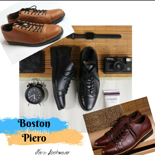 Foto Produk Sepatu kulit pria MODEL PIERO (pantopel/boots/kickers/bally/DELTA dari faiz footwear