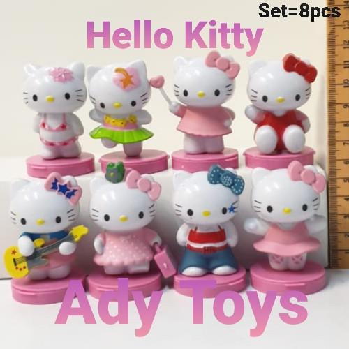 Foto Produk Hello Kitty Stamp Set/8pcs Action Figure 6cm dari Ady Toys