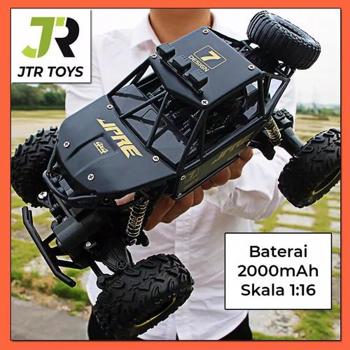 Foto Produk Mobil Remot RC Car Rock Crawler 1:16 Off Road 2.4GHz 4WD JPRE - Hitam dari Toy Kid
