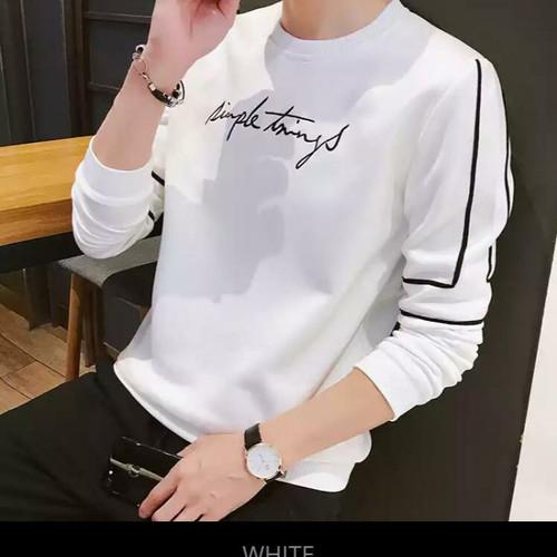 Foto Produk Promo Termurah Atasan Lengan Panjang Simple Kaos Pria 0037 - Mustard dari New Trendy 99