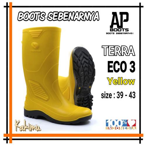 Foto Produk SEPATU BOOT MURAH AP BOOTS ECO 3 YELLOW - Kuning, 42 dari kakimu_ols