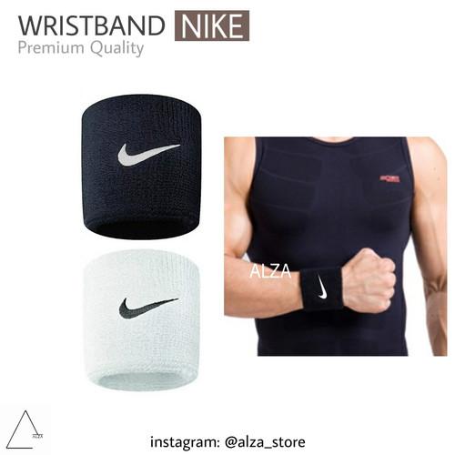 Foto Produk Wrist Band | Wristband Nike Putih Hitam - Hitam dari alzastore