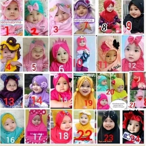 Foto Produk jilbab anak bayi syiria bulan dari babysabrina
