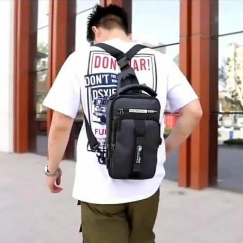 Foto Produk tas selempang pria multifungsi bisa ransel profesional termurah COD - Abu-abu dari dream_shop_99