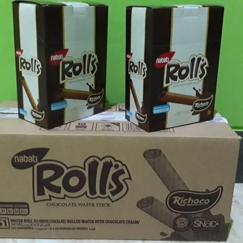 Foto Produk Nabati Rolls Cheese Wafer Stick (20pcs x 8gr) - Coklat dari Sumber Berkah Boga