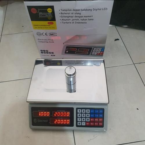 Foto Produk Timbangan buah/Timbangan laundry/ Timbangan sembako 30kg/DLL dari timbangan murah