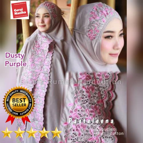 Foto Produk Mukena Bordir Katun Mikro Syahbani Renda Siti Khadijah Dewasa Elegant dari Gerai Naziha