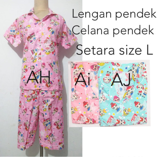 Foto Produk piyama baju tidur katun dewasa wanita pajamas dari Nina fashion 13