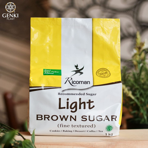 Foto Produk Ricoman Light Brown Sugar - 1 kg dari Genki Plant