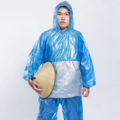 Foto Produk Jas Hujan Tebu Stelan Jaket Celana Kombinasi HDPE - Biru dari UPR