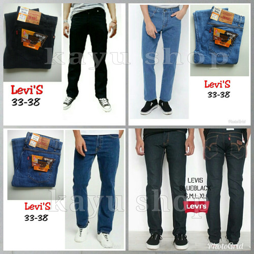 Foto Produk Celana Jeans Pria Standar Big Size Hitam Biru Muda Garmen - Stun Biru Tua, 33 dari kayu shop