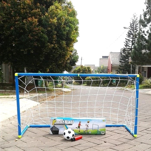 Foto Produk Mainan Set Gawang Sepakbola - Termasuk Bola Pompa - Anak Edukatif dari ZhafiraCorps