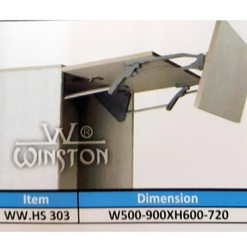 Foto Produk Engsel Lift Up & Down Winston HS 303 W 50-90cm x H 60 - 72cm Panel dari sinar*jaya