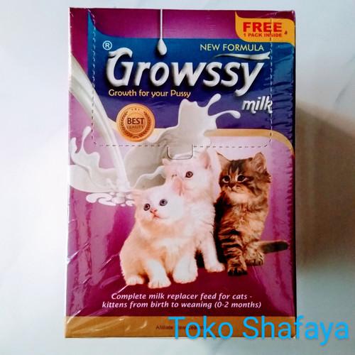 Foto Produk Susu Kucing Growssy 1 Box/Kotak isi 10 Sachet + 1 Sachet dari Toko Shafaya