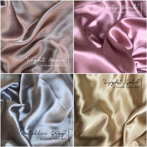 Foto Produk Kain SATIN SILK/ SATEEN SUTRA MAXMARA premium 0.5 meter edisi PASTEL dari Savanah Textile