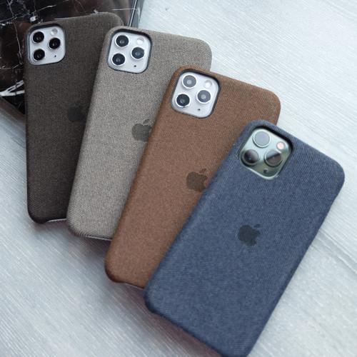 Foto Produk Canvas Case - iphone 6 6+ 7+ 8 8+ dan X softcase bahan canvas halus - grey, iPhone 6/6s dari Pipop Case