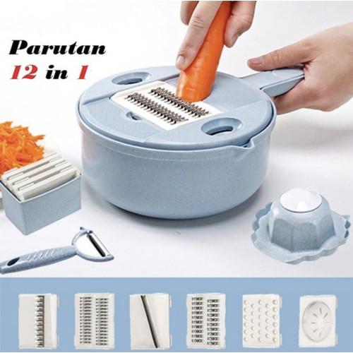 Foto Produk Parutan Set 12in1 /Alat pemotong sayuran serbaguna 12in1 dari Chloe1_Shop