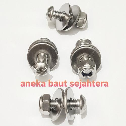 Foto Produk Baut Plat Nomor - Baut L Button Stainless dari ANEKA BAUT SEJAHTERA
