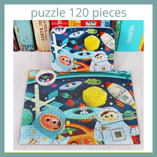 Foto Produk Puzzle in Tin Box - Puzzle Anak 120 Pieces - Farm dari Little Tickles