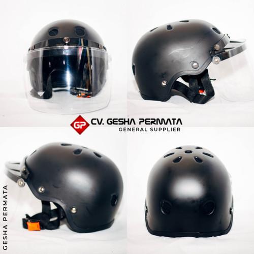 Foto Produk Helm Sepeda Faceshield Hitam Doff | Helm sepeda Hitam Doff dari Gesha Permata