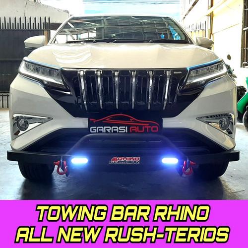 Foto Produk Tanduk depan Towing Bumper guard Rhino With DRL All New Rush / Terios dari GarasiAuto