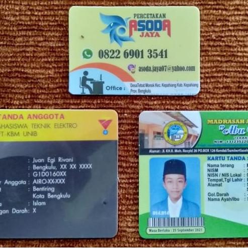 Jual Kartu Pelajar Id Card Kab Kepahiang Asoda Tokopedia