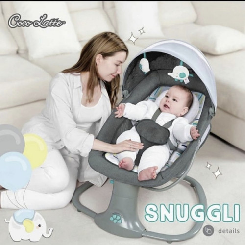 Foto Produk Bouncer Cocolatte Weeler Snuggli - Dark Grey dari Baby_World