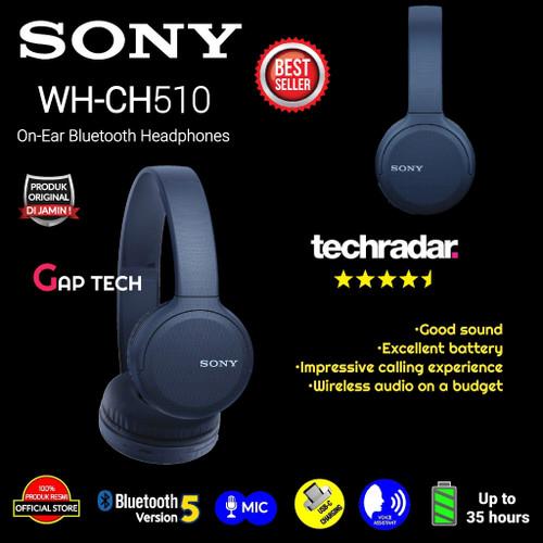 Foto Produk Sony WH CH510 / WH CH 510 Wireless On-Ear Headphones Original - Biru dari GAP TECH OFFICIAL