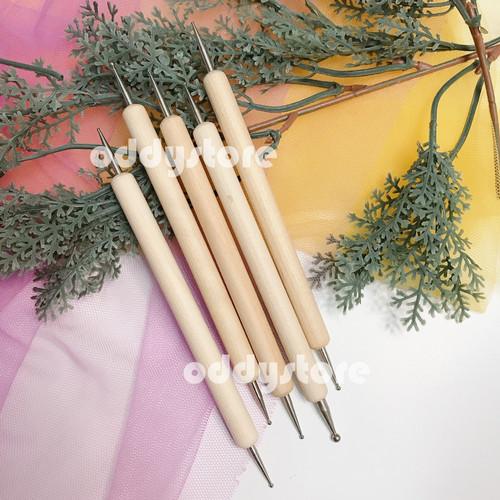 Foto Produk Dotting Tools isi 5 bahan kayu dari Oddy Store