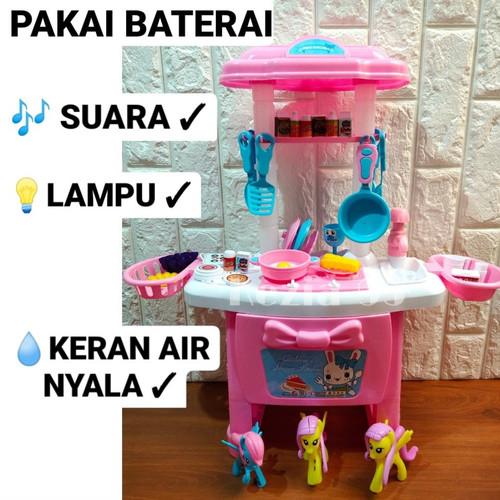 Foto Produk Mainan Anak Kitchen Set Little Pony Ukuran Besar Masak Masakan Anak - PAKAI BATERAI dari KEZIA-95