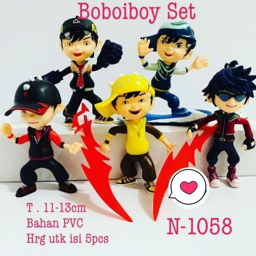 Foto Produk Figure Boboiboy 1 set isi 6 pcs / Topper Kue Cake Boboiboy dari R&M Toys