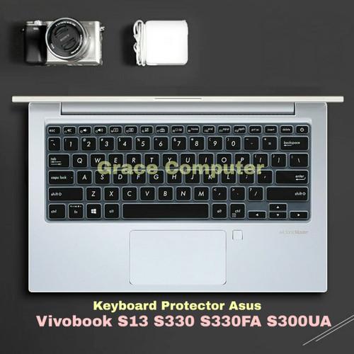 Foto Produk Cover Keyboard Protector Asus Vivobook S13 S330 S330FA S330UA - Transparant dari Grace-Computer