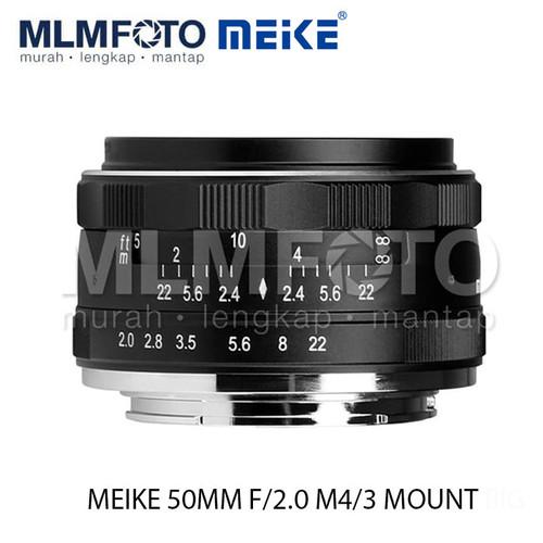 Foto Produk MEIKE 50MM F/2.0 STANDART LENS M4/3-MOUNT dari MLMFOTO