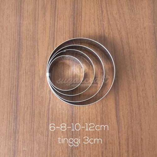 Foto Produk ring cutter bulat round cookies kue set 4pcs dari sugarcraft