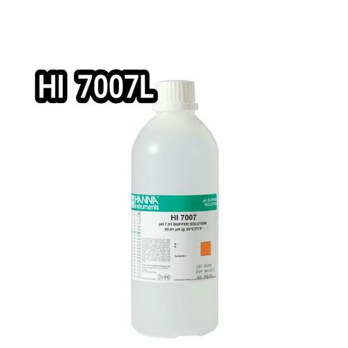 Foto Produk Hanna instruments HI-7007L pH 7.01 Buffer Solution, 500 mL bottle dari te nie