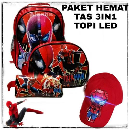 Foto Produk tas anak laki laki ransel karakter superhero murah terbaru-spiderman dari mput shoop