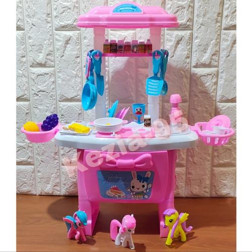 Foto Produk Mainan Anak Kitchen Set Little Pony Ukuran Besar Masak Masakan Anak - TANPA BATERAI dari KEZIA-95