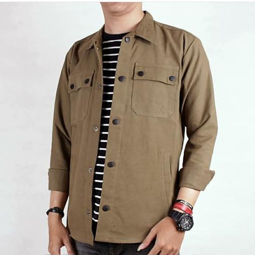 Foto Produk Jaket pria jaket semi parka kanvas warna khaki dari mari kak shop
