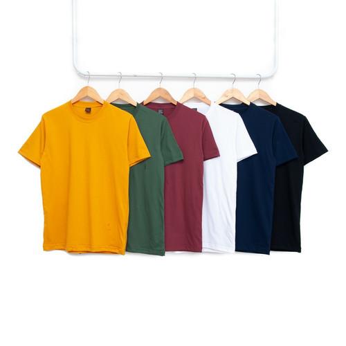 Foto Produk Kaos Polos Cotton Combed 30s Premium Pria Wanita Harga Grosir S M L XL - Putih, S dari kaospolos,47