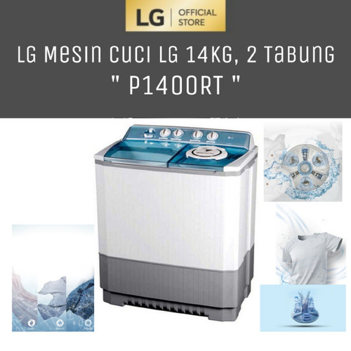 Foto Produk LG P1400RT Mesin cuci 2Tabung 14KG - Powerful Washing dari LG Official Store