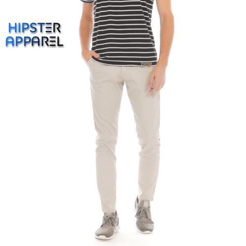 Foto Produk HIPSTER celana chino panjang pria warna light khaki - M dari Hipster Official