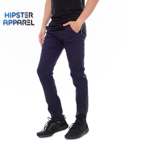 Foto Produk Hipster celana panjang chino warna navy - Navy, S dari Hipster Official