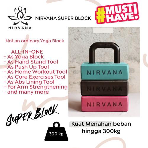 Foto Produk Nirvana Super Block Yoga Block Terbaru All In One Multifungsi - BLACK dari Nirvana Indonesia