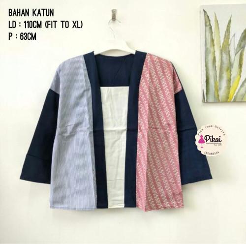Foto Produk PROMO Baju Batik Modern Wanita / Batik Lengan Panjang / Batik Kantor - PINK dari Pikoi_id