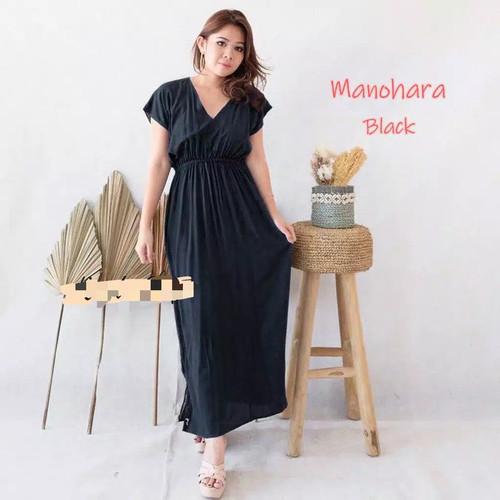 Foto Produk DASTER BALI/ DRESS MANOHARA PANJANG / DASTER HABEL MURAH / BAJU TIDUR - Hitam dari HIBAKO shop