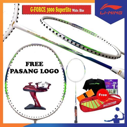 Foto Produk Raket Badminton LINING SUPERLITE G-FORCE 3900 +Tas komplit+sablon LOGO dari Hebohstore