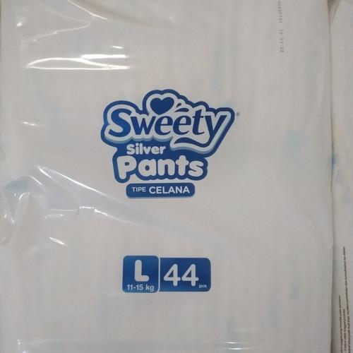 Foto Produk Popok bayi Sweety Silver Pants L isi 44, Pampres bayi L, diapers bayi dari Toko Maydes