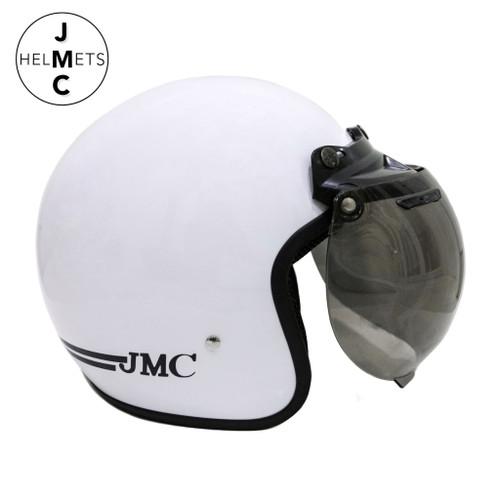 Foto Produk Helm Bogo Retro Dewasa List Putih Vintage SNI dari JMC Helmet