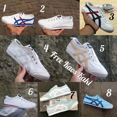 Foto Produk Sneakers Onit Slip On size 36 - 40 sepatu wanita kets putih biru gold dari eno ajjh