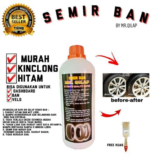 Foto Produk Semir Ban plus Kuas/Pengkilap Ban/Penghitam Ban Mobil Motor/MR Qilap dari MR. QILAP